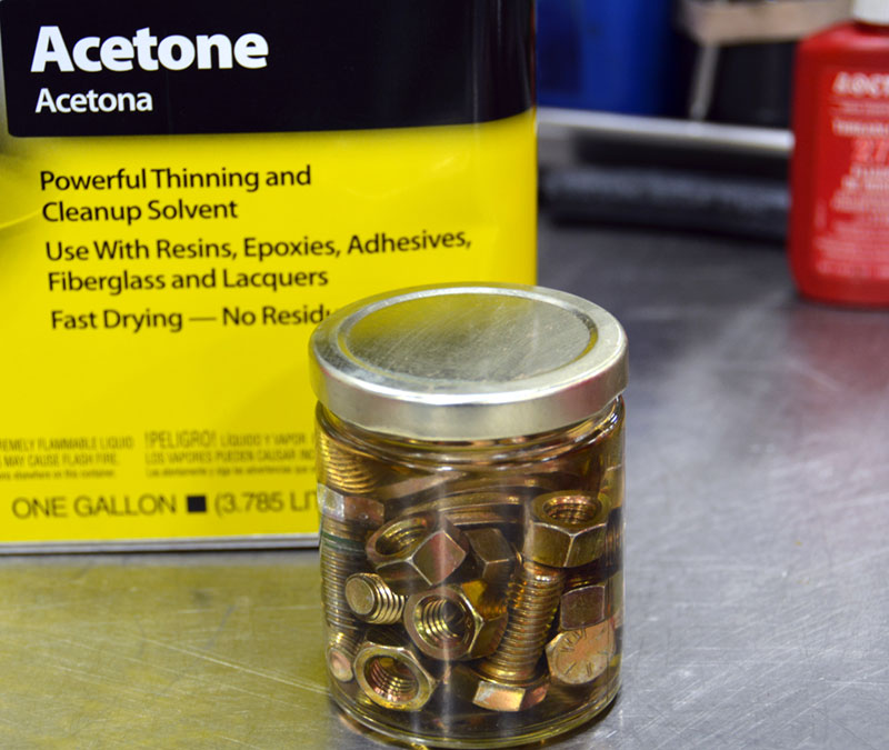 step-one-is-clean-with-acetone-to-allow-adhesion