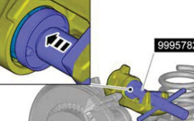 Volvo Parking brake (EPB), Not possible to get brake caliper in service position